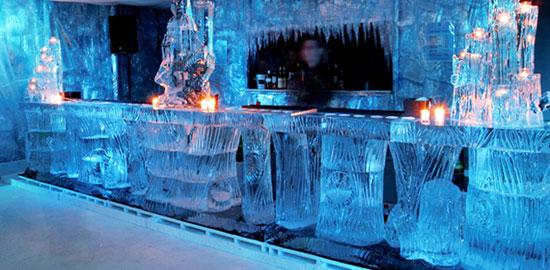 7 sky ice show, ice bar