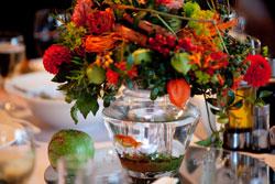 Осенняя композиция с золотой рыбкой - Centerpieces with Goldfish