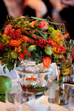 Centerpieces with Goldfish