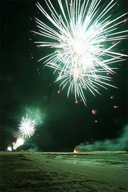 Fireworks in Jurmala
